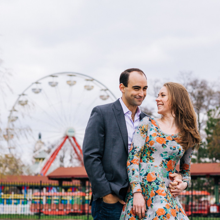 Windy Engagements at Rye Playland