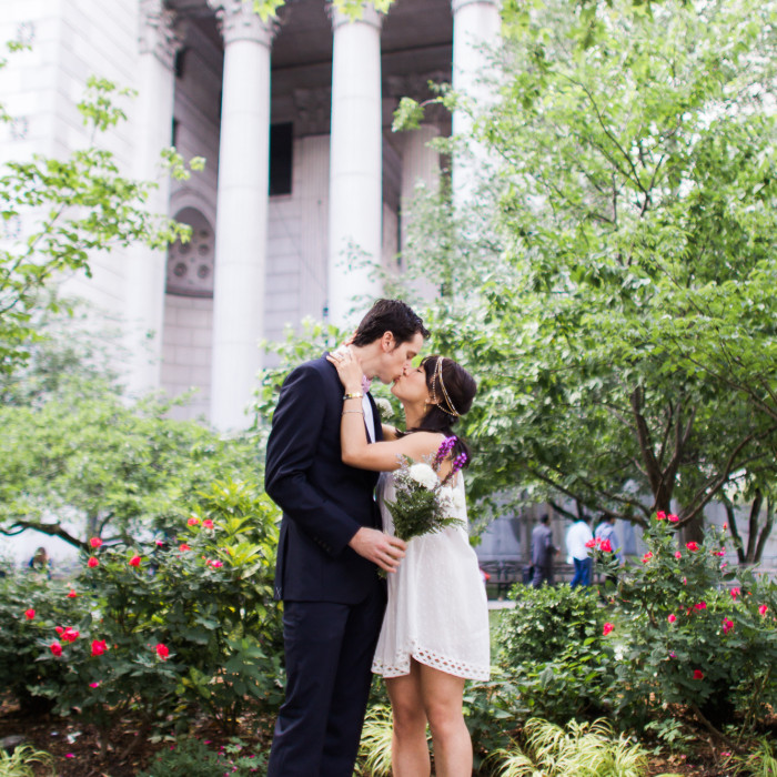 New York Wedding Photographer - City Hall Wedding Central Park Celebration