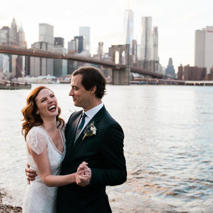 Winter Dumbo Lofts Wedding in Brooklyn - Lindsey and Justin
